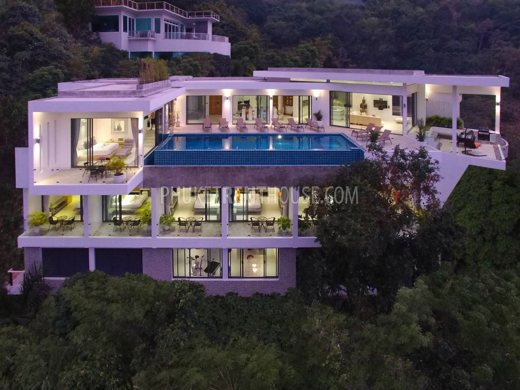 Ban11886 9 bedroom luxury andaman sea view villa phuket for 9 bedroom house for rent