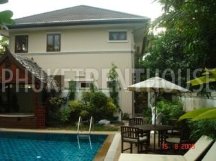 CHA0038 4 Bedroom 2 Story House with Large Swimming Pool Phuket