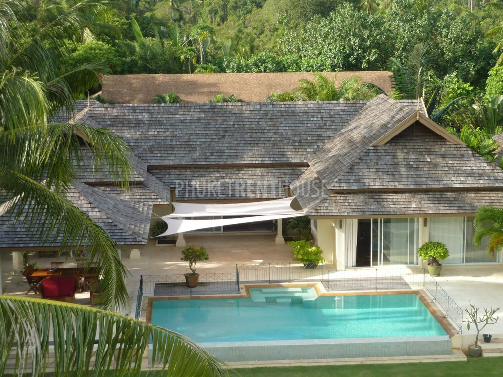 Mai5876 Villa Frontbeach 5 Bedrooms Very Luxurious Swimming Pool Phuket Rent House