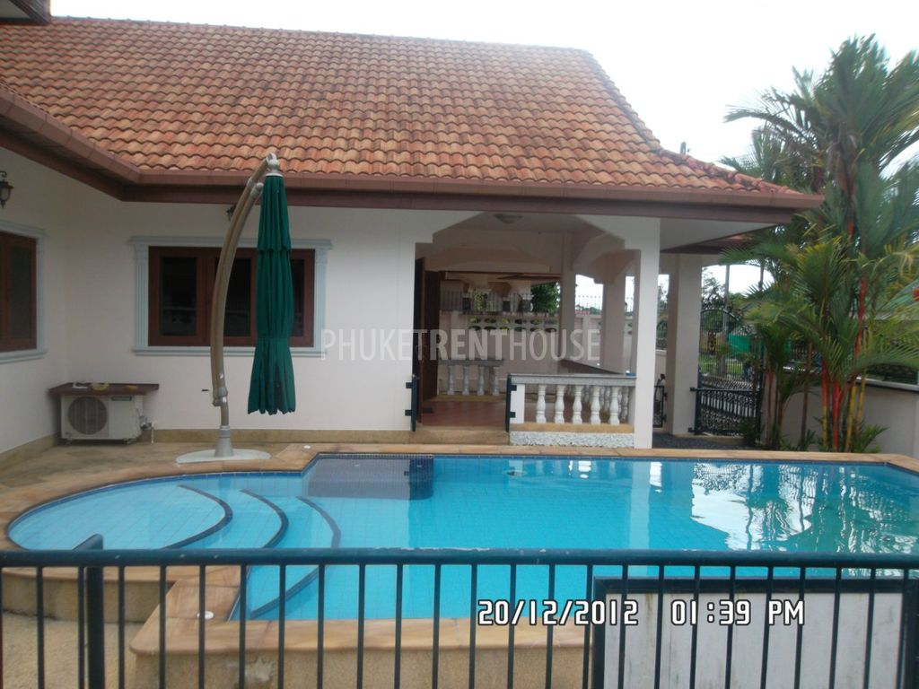 Tal6385 Private Pool House For Rent Talang Phuket Rent House