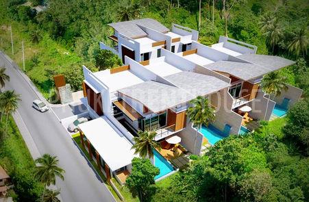 5 villas in the same area