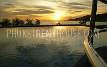 Sunset view from the infinity pool