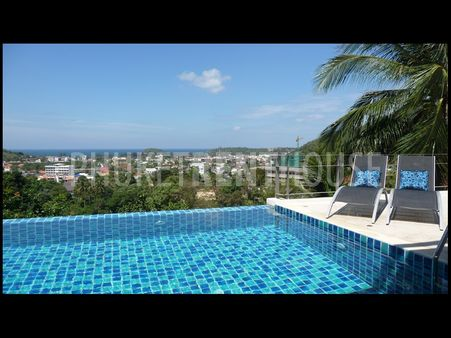 5 bed pool villa for rent, amazing sea view, in Kata