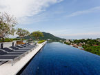 Infinity pool on rooftop