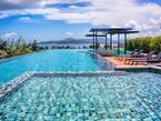 Infinity swimming pool on the rooftop with stunning mountains & sea views!!!