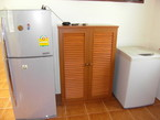 Fridge, cupboard and washing machine