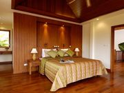 Extensive use of teak wood throughout the villa