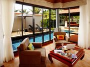 Pool side Seating area (indoor).