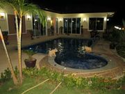 SECURITY LIGHTS AND POOL AREA