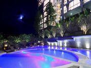Neon-lit pool