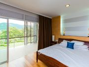 bedroom with mountain view