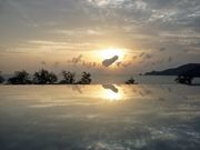 Infinity pool with Andaman sea view