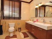 Charming bathroom with cozy design and bath room amenities