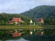 Nai Harn lake and temple