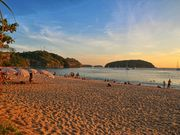 Nai Harn beach at sunset