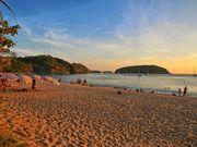 Nai Harn beach at sunset