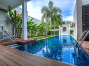 private swimming pool with terrace