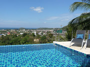The infinity pool, terrace and stunning views over Kata, the ocean, the tropical jungle and Big Buddha.