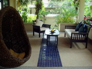 Spacious covered patio area