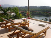 Relax on one of the three balconies, with a beautiful view of countryside and sea.
