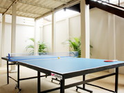 Downstairs table tennis area