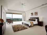 Master bedroom with en-suite and sea views