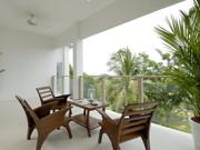 Bedroom 4's private balcony