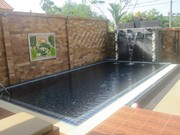 Private pool, with large fencing