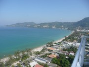 seaview and patong city from balcony