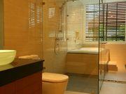 Master bathroom with a jacuzzi bathtub