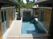 Pool and decking area