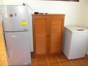 Fridge, cupboard and washing machine