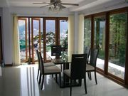 Dining Room with sea and mountain views