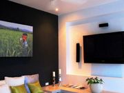 Media room offers both privacy and convenience and equipped with media equipment