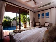 Bedroom 3 , facing private pool