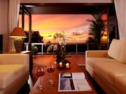 Living room , evening sunset