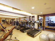 Fitness Centre - Technogym Excite equipment and free weights,resistance machines, steam, sauna, dip pools and outdoor poolwith jacuzzi