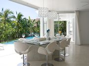 dining area overlooking lagoon