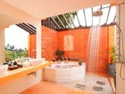 Outdoor spa area