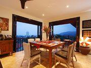 Dining area after sundown