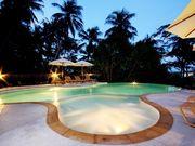 Swimming pool area, kids pool/jacuzzi area